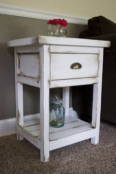 *Please contact us prior to ordering your item(s) for shipping estimates* **Listed price is for one table** This Custom, Hand-made Farmhouse End Table is 19Wx16.5Dx26H. Whether purchasing one or two of these tables, each solidly built piece will be a perfect addition to your living