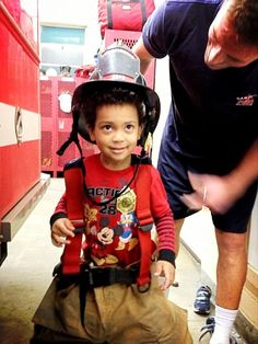 """""""We made cookies for our firemen and even got to play dress up."""" 