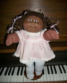 CABBAGE PATCH KID COLECO HM 3 1985 AFRICAN-AMERICAN CPK VTG DRESS & TIGHTS #DollswithClothingAccessories