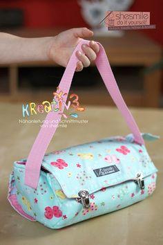 Utensilo-Tasche - Kreativ3 (Nähanleitung und Schnittmuster von shesmile. Hier genäht als Mal- und Basteltasche für meine Tochter.
