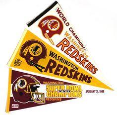 "washington redskins 1960 | 1960s-1988 circa Washington Redskins 29"" College Football Pennant ..."