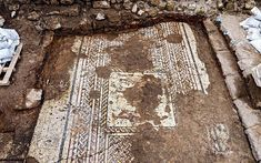 1,800-Year-Old Multicoloured Mosaic Uncovered At Caesarea