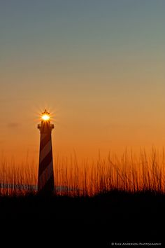 """""""Another Day Ends"""" Cape Hatteras Lighthouse in Buxton, North Carolina"""