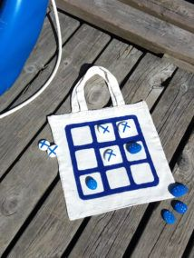 Kesäpelikassi Printing On Fabric, Straw Bag, Cube, Textiles, Woodworking, Teaching, Toys, Prints, Design