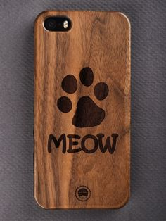 Buy PetSanta Meow Engraved Wooden Smartphone Case Online for Bombay Trooper, Wooden Phone Case, Smartphone, Iphone Cases, Iphone Case, I Phone Cases