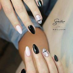 Instagram media by semilac - #semigirls dzisiaj mamy dla Was piękną propozycję od naszej stylistki Elizy ❤ (@nail_look_eliza) wykorzystane kolorki - 031, 128 oraz 141. Jak Wam się podoba?  #semilac #nails #nailfie #nailart #semigirls #inspiration #black #pinkmarshmallow #manicure #nails2inspire #mani