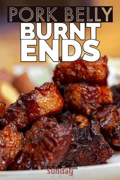 Smoked Pork Belly Burnt Ends - My favorite thing to make in a smoker If you're looking for a yummy smoked meat recipe this is it! These burnt ends are smoked and sauced and the end result is some of the best bbq you'll ever taste. Traeger Recipes, Smoked Meat Recipes, Smoked Bacon, Grilling Recipes, Best Bbq Recipes, Smoked Cheese, Grilling Tips, Smoked Pork Belly Recipe, Pork Belly Recipes