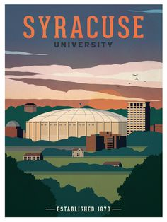 Image of Syracuse University Poster available for sale at ideastorm.bigcartel.com