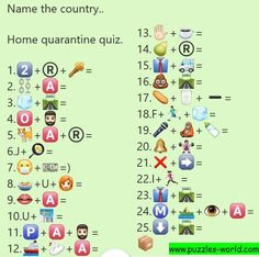 Name the Country Emoticons Quiz (Whatsapp Puzzles world, Quiz, Games, Riddles and messages) Guess The Emoji Answers, Quiz With Answers, Funny Quiz Questions, Quiz Questions And Answers, Emoji Quiz Games, Emoji Puzzle, Quiz Names, Family Quiz, Funny Puzzles