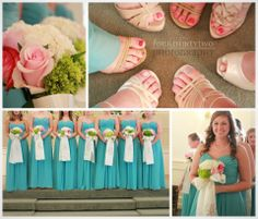 Our bride Laura went with a gorgeous blue for her bridesmaids' colors!