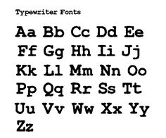 Type writer font for labels for back of keyring - used quite alot on handmade items/rustic font.