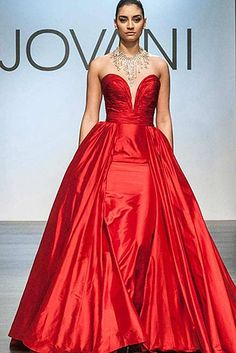 Sweetheart Neck Red Dress 97141