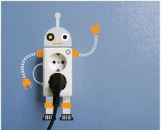 Robot lichtknop / stopcontact - Baby- en kinderkamer tips