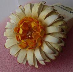 Gerbera Daisy Paper Flower | 10 Flower Craft Ideas: How to Make Construction Paper Flowers