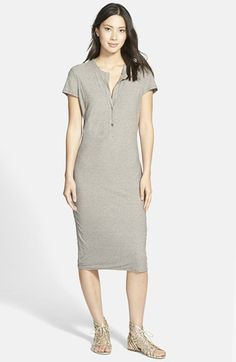 James Perse Short Sleeve Henley Dress available at #Nordstrom