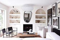 My Living Room, Living Area, Living Spaces, Melbourne Apartment, Black And White Interior, Apartment Renovation, Vogue Living, Australian Homes, The Design Files