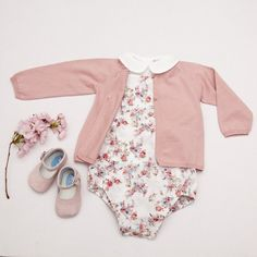 Baby Cotton Flower Print Romper - Mon Marcel don't normally pins baby clothing but this was too cute not to!!