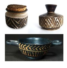 Chevron Ancient Pottery 1800 BC