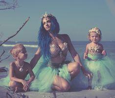 Hanging with mer-children 💎🐚🌊 📸 Mermaid Photo Shoot, Mermaid Photos, Charity Grace, First Halloween Costumes, Halloween Photography, Mermaid Princess, Stylish Maternity, Mermaid Birthday, Mermaid Hair