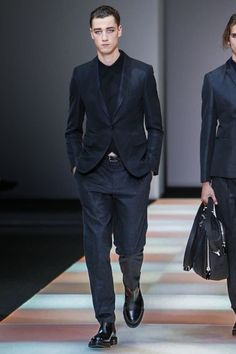 Emporio Armani Menswear Fall Winter 2015 Milan