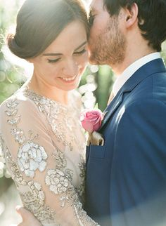 vintage inspired long sleeved wedding gown