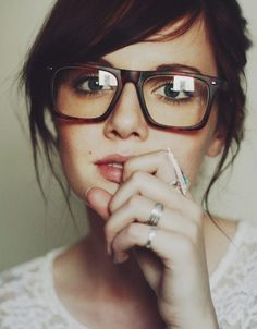 I despise wearing my contacts so soon I'm getting these thick frame glasses and just rock hipster nerd