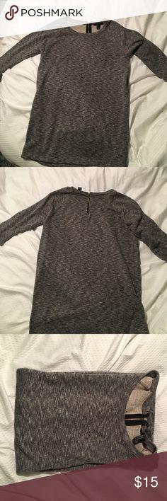 Sweater Quarter sleeve gray heathered F21 sweater Forever 21 Sweaters Crew & Scoop Necks