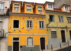 Stock image of 'building, sardines, sardine, art, street art, mural,Lisbon, Lisboa, Lissabon, Lisbona, Lisbonne'
