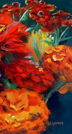 September 13, 2014 Beautiful Zinnia Painting! | Plein Aire in Maine
