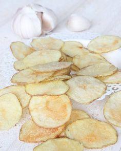 vitlökschips5 Chips, Nom Nom, Snack Recipes, Frozen, Eat, Desserts, Food, Green Garden, Drink