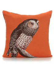 George Home Orange Reversible Owl Cushion