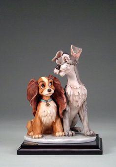 Giuseppe Armani-Disney Figurine Lady and the Tramp Jim Shore Deco Disney, Arte Disney, Disney Magic, Disney Art, Disney Movies, Disney Pixar, Disney Characters, Disney Stuff, Disney Statues