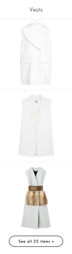 """Vests"" by z777 ❤ liked on Polyvore featuring outerwear, vests, white vest, white waistcoat, woolen vest, gilet vest, wool vest, vest, white and vest waistcoat"