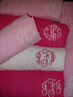 7+Bridesmaids+Robe+Personalized+Embroidered+by+EmbroiderybyCathy,+$210.00