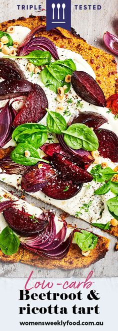 This beetroot and ricotta tart would be nothing without our sweet potato pastry base Sweet Potato Pizza, Steamed Sweet Potato, Tart Recipes, Apple Recipes, Ricotta Tart Recipe, Ricotta Stuffed Chicken, Chicken Parmigiana, Mushroom Burger, How To Roast Hazelnuts