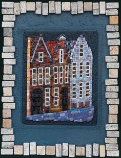 Mosaic.Три дома г.Брюгге