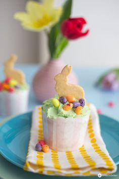 Hasen Cupcakes für Ostern backen - Osterideen