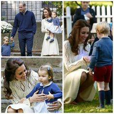 The Duke and Duchess of Cambridge along with Prince George and Princess Charlotte  29 September 2016