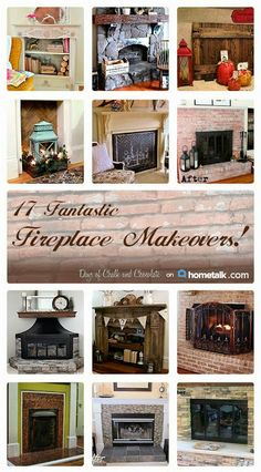 Days of Chalk and Chocolate: 17 Fantastic Fireplace Makeovers on my Hometalk Clipboard!