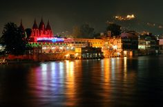 Haridwar at night. Uttarakhand, India.