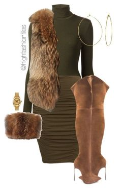 The Chic Technique: Faux fur and thigh high suede boots are featured in this womens winter fashion featuring Wolford, Adrienne Landau, Zac Posen, Phyllis + Rosie and Rolex Lila Outfits, Classy Outfits, Chic Outfits, Fashion Outfits, Womens Fashion, Fashion Trends, Fashion 2018, Spring Outfits, Dress Outfits