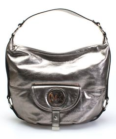 This Nickel Fulton Large Leather Hobo by MICHAEL Michael Kors is perfect! #zulilyfinds