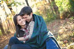 Fall photo shoot-- love that they're wrapped in a blanket together