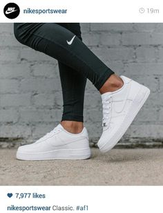 Classic all white sneaker love #low #airforce #1 #nike #originals #sportsluxe #sneakers