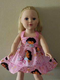 BOUTIQUE Doll Dress/AMERICAN GIRL Doll Dress 18 by SarahsRainbow