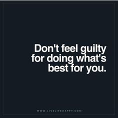 """It's for YOU, not THEM. 