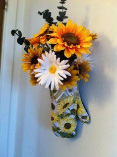 Sunflower Kitchen Decor by floraldesignsbygina on Etsy, $30.00