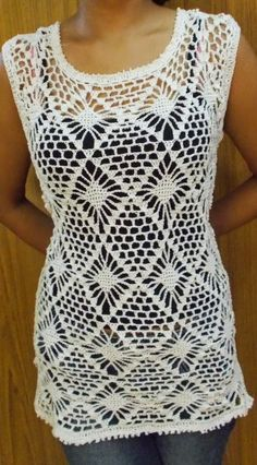 this would be a cool stitch for swimsuit coverup! Sweet Nothings Crochet: DIAMOND VEST