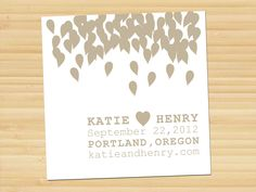 One Heart // Save the date // Wedding Invitations // reception // engagement // anniversary // modern // announcement // postcard.