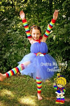 Rianbow Bright Tutu Dress $60 - Shoot- I'll make it for like $20!!!